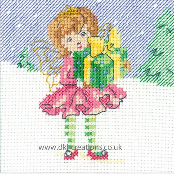Maria Diaz Fairy Christmas Greeting Card Cross Stitch Kit
